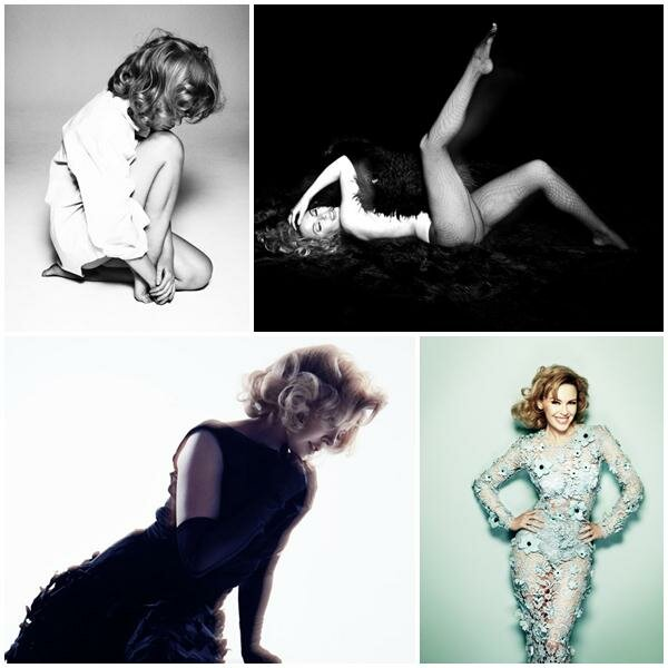 Кайли Миноуг в июльском Glamour UK. Фотографии