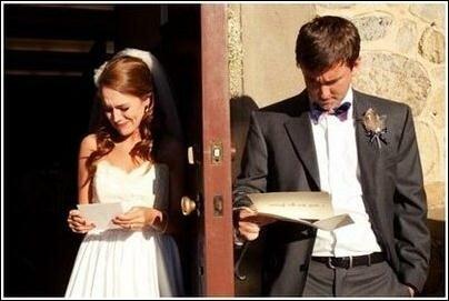 Фото. Реакция на любовные письма перед свадьбой