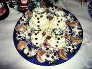 Семейный десерт: новогодние снеговики