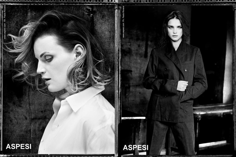 Наталья Водянова в рекламе Aspesi. Фотографии