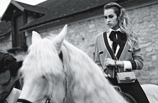 Элис Деллал в рекламе Chanel Boy. Фотографии