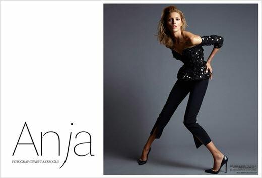 Модель Аня Рубик в образе весны на обложке Vogue. Фотографии