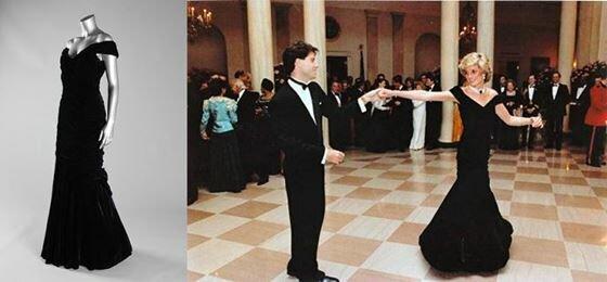 Платья принцессы Дианы на аукционе в Лондоне. Фотографии