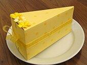 Коробочки в виде кусочков торта