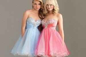 Классическая мода   короткие вечерние платья. Фотографии