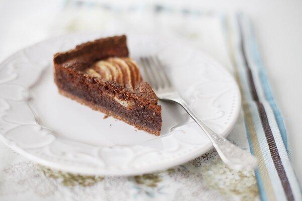 Шоколадный пирог с франжипаном. Фотографии