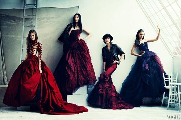Фотосессия к 120 летию Vogue . Фотографии