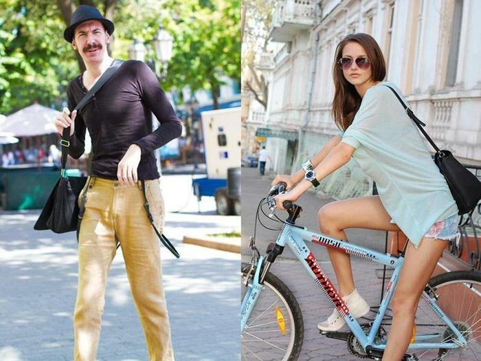 Уличная мода Одессы. Фотографии. Фотографии