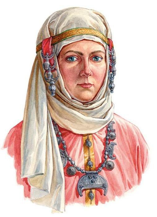 Древнерусский женский ювелирный головной убор. Фотографии