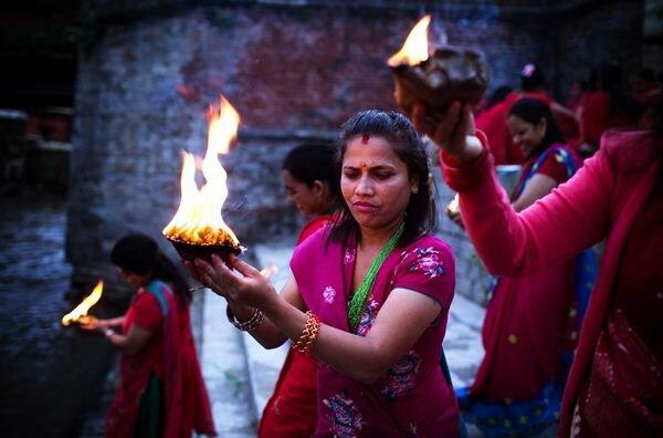 «Риши Панчами». Традиционный женский фестиваль. Фотографии