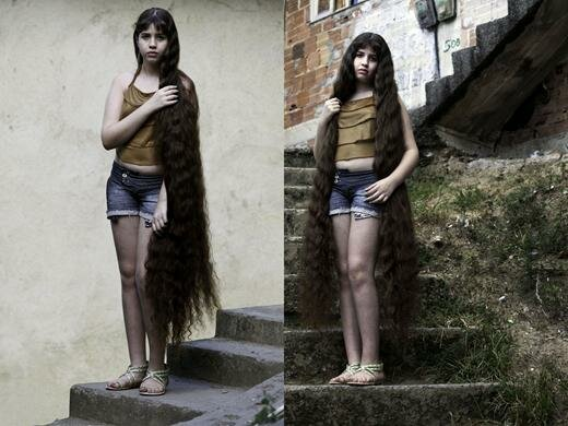12-летняя девочка продала волосы за 5 тыс. долларов. Фотографии. Бразилия