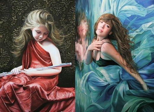 Фотореалистические картины маслом от Кристиан Влегелс. Фотографии