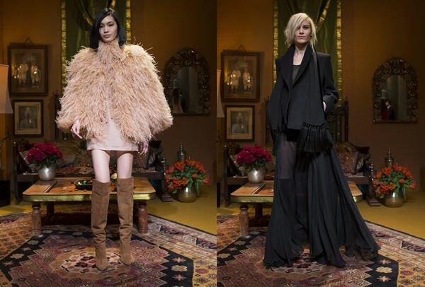Сексуальные модели наряды и модели девушки на Неделе моды в Париже. Фотографии