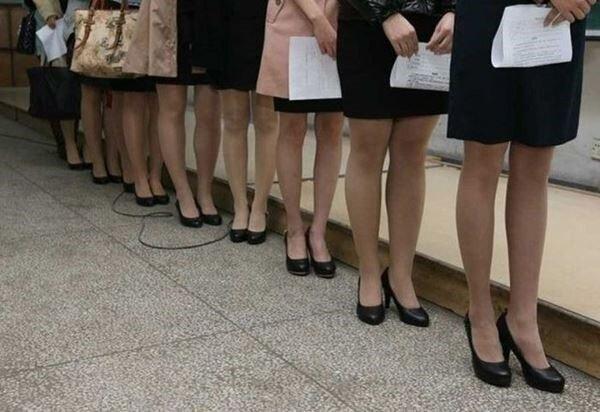 Отбор кандидаток в стюардессы в Китае. Фотографии. Фотографии