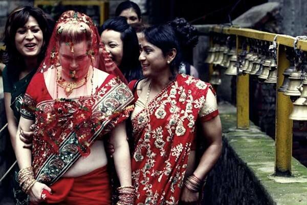 Свадьба лесбиянок в Непале. Фотографии