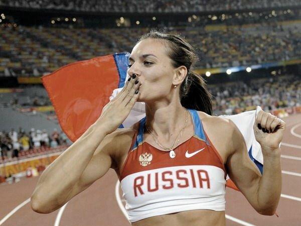 Елена Исинбаева прыжок Самая успешная спортсменка России