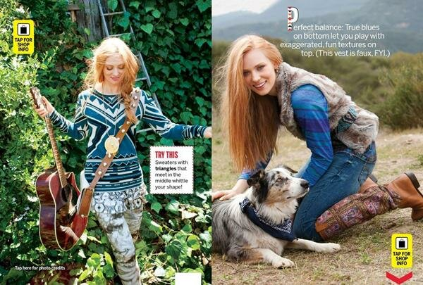 Дэбора Энн Волл в Self Magazine . Фотографии