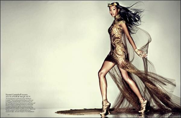 Золотая фотосессия в Vogue UK. Фотографии