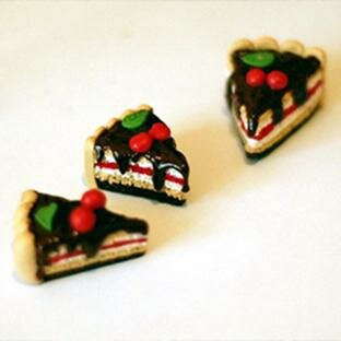 Сладкий торт и тортики из полимерной глины. Фотографии