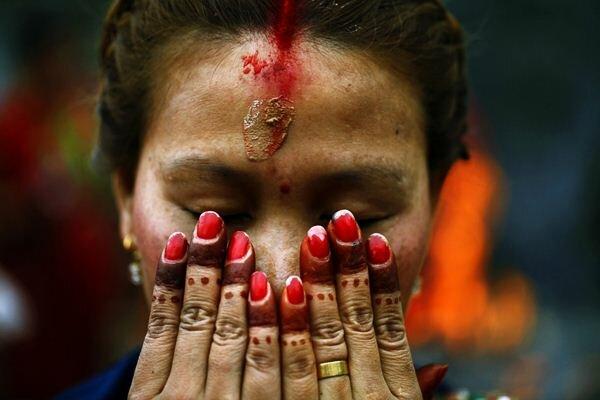 «Риши Панчами» Фотографии Традиционный женский фестиваль Непал Катманду