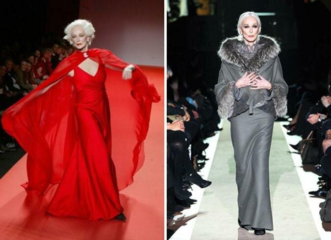 Модели старше 50 лет. Как стареть красиво. Фотографии
