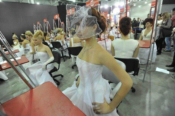 Выставка причесок в Крокусе (Москва). Фотографии