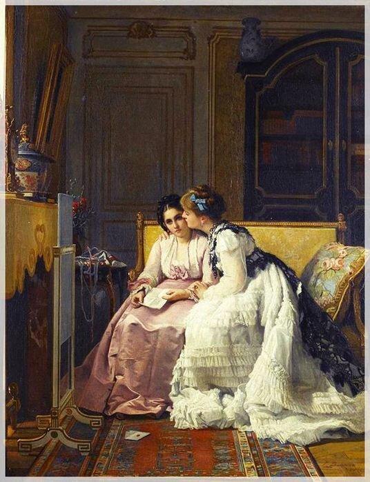 Женская дружба в живописи. Фотографии
