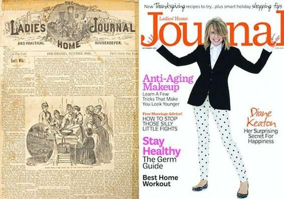 Первые номера женских журналов (1867-2005 гг.) и их современные обложки