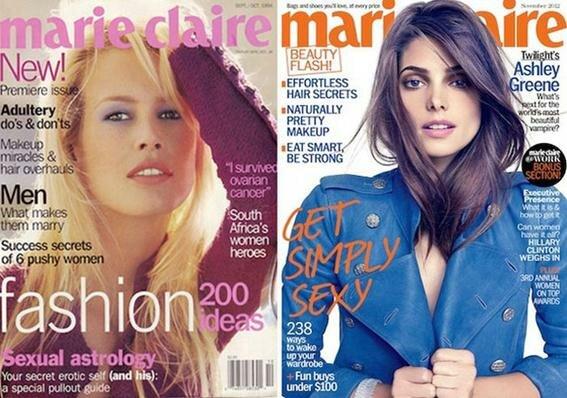 Первые номера женских журналов (1867 2005 гг.) и их современные обложки. Фотографии
