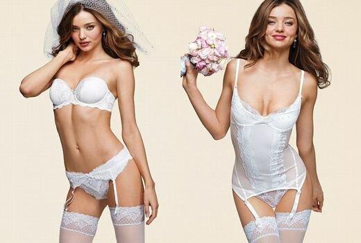 Миранда Керр в свадебном каталоге Victoria's Secret