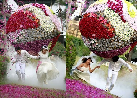 Экстремальные свадебные церемонии в Таиланде. Фотографии