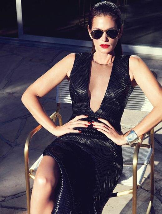 Модель Синди Кроуфорд в журнале Harpers Bazaar. Фотографии