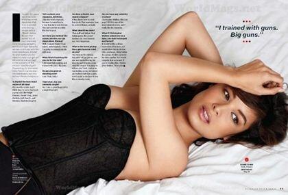 Фотографии Беренис Марло в журнале Maxim