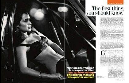 Фотографии Беренис Марло в журнале GQ